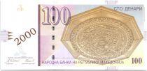 Macédoine 100 Denari Gravure de Skopje par Harevin - 2000