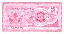 Macédoine 25 Denari 1992 - Monument