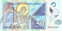 Macedonia 50 Denari 2018 - Archange Gabriel - Old Coin Polymer