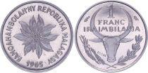 Madagascar 1 Franc - 1965 - Essai - République Malgache