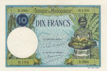 Madagascar 10 Francs Type 1926  - ND(1948-57) - Serial R.2006