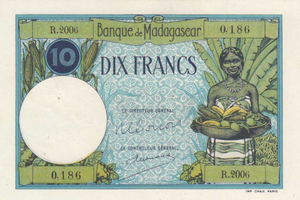 Madagascar 10 Francs Type 1926  - ND(1948-57) - Série R.2006