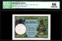 Madagascar 10 Francs Woman and fruits - 1948 - ICG UNC66