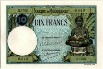 Madagascar 10 Francs Woman and fruits - 1948-57