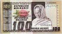 Madagascar 100 Francs - Old man - Rice planting- 1974