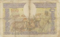 Madagascar 100 Francs Fortuna and symbols of agriculture and industry
