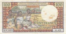 Madagascar 100 Francs Tissage , Arbres  - 1966