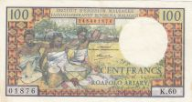 Madagascar 100 Francs Tissage , Arbres  - 1966 Série K.60 - SUP