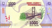 Madagascar 1000 Ariary - Bridge - 2017