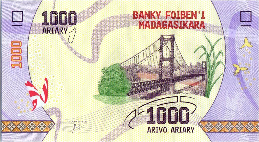 Madagascar 1000 Ariary - Pont - Paysage - 2017