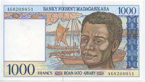 Madagascar 1000 Francs Homme, bateaux