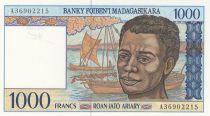 Madagascar 1000 Francs jeune garçon, pêcheurs  - ND1995