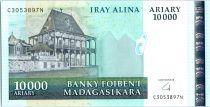 Madagascar 10000 Ariary - Palais - Exploitation minière - 2003