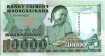 Madagascar 10000 Francs Fillette - Récolte de riz - 1994