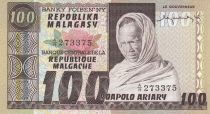 Madagascar 20 Ariary - Old man - Rice planting - Signature 1