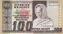 Madagascar 20 Ariary - Vielle homme - Récolte du riz - Signature 1