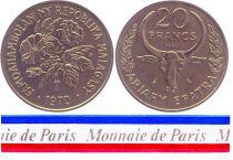 Madagascar 20 Francs - 1970 - Test strike