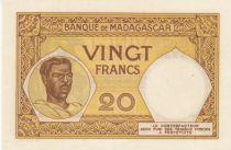 Madagascar 20 Francs France, femme malgache - ND (1948-57) - Série T.874