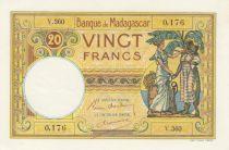 Madagascar 20 Francs France et femme malgache - 1937 - Série V.360