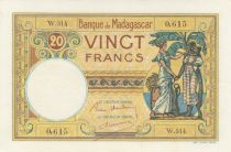 Madagascar 20 Francs Type 1926 - ND (1937-47)- Serial W.314 - P.37