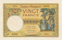 Madagascar 20 Francs Type 1926 - ND (1948-57)- Serial T.874 - P.37
