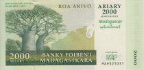 Madagascar 2000 Ariary - Baobabs - Action Plan 2007-2012