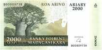 Madagascar 2000 Ariary - Baobabs - Landscape -2008 - P.90b - UNC