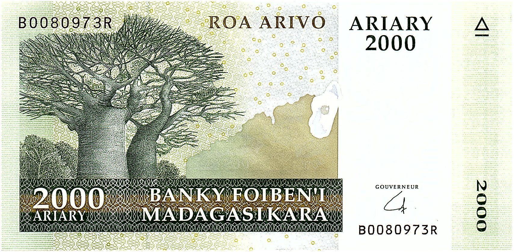 Madagascar 2000 Ariary - Baobabs - Paysage - 2008 - P.90b - Neuf
