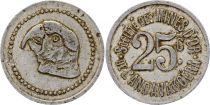Madagascar 25 Centimes  Parrot - Gold mine of Andavakoera - 1920