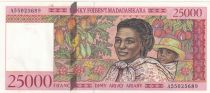 Madagascar 25000 Francs Woman and child - 1998 - AU - P.82