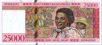 Madagascar 25000 Francs Woman and child - 1998