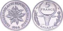 Madagascar 5 Francs - 1966 - Test Strike - Madagascar Republic