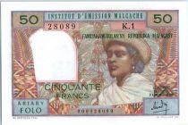 Madagascar 50 Francs Femme à chapeau - 1969 - K 1