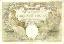 Madagascar 50 Francs Minerva - Allegory of Science - 1937