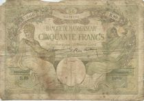 Madagascar 50 Francs Minerve - Allégorie de la Science