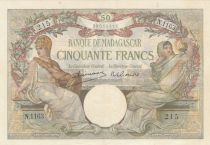 Madagascar 50 Francs Minerve et Science - ND 1948 - Série N.1163