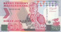 Madagascar 500 Ariary - Femme agée - Animaux - 1988