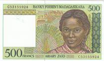 Madagascar 500 Ariary - Jeune femme - ND1994