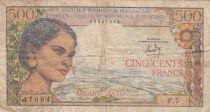 Madagascar 500 Francs  - ND (1966) Serial F.7