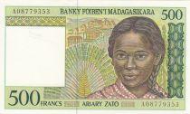 Madagascar 500 Francs - jeune fille -  ND1994
