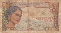 Madagascar 500 Francs Femme - ND1966