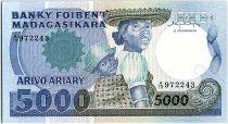 Madagascar 5000 Francs Femme et enfant - 1983