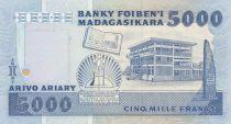 Madagascar 5000 Francs Femme et enfant - 1988