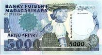 Madagascar 5000 Francs Femme et enfant - 1994