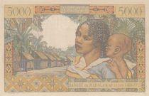 Madagascar 5000 Francs Galliéni - Spécimen - 1950