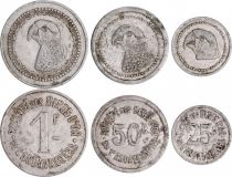 Madagascar Parrot - Gold mine of Andavakoera - Set 3 coins