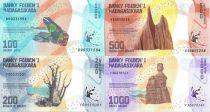 Madagascar Set 4 banknotes : 100, 200, 500, 1000 Ariary - 2017