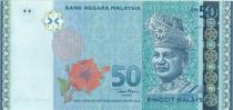 Malaisie 50 Ringitt T.A. Rahman - 50 ans de règne