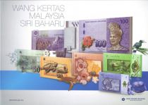 Malaisie CS.2012 186 Ringitt, T.A. Rahman Folder 6 billets 1 à 100 Ringitt