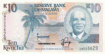 Malawi 10 Kwacha 1992 - Dr Hastings Kamuzu Banda, Lac, Bâtiment